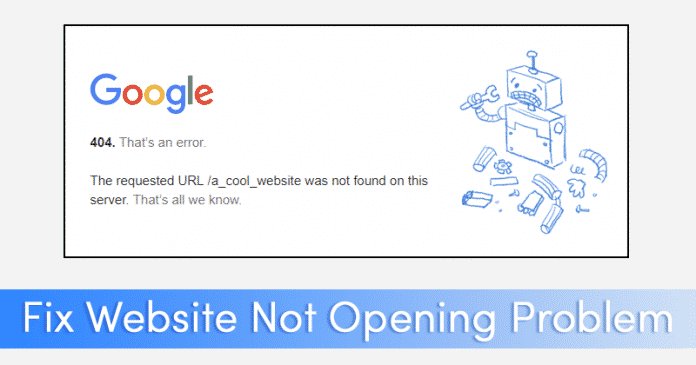 How to Fix Some Websites Not Loading/Opening in Browser