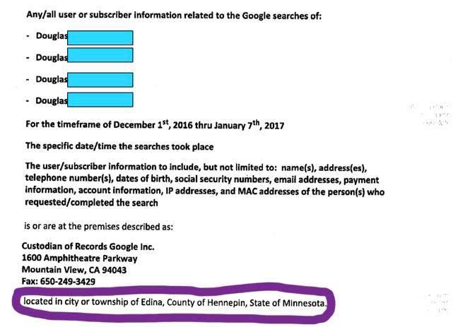 Google Warrant