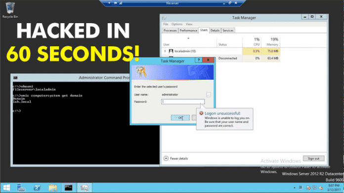 Hacker Cracks Windows Account In Less Than 60 Seconds!