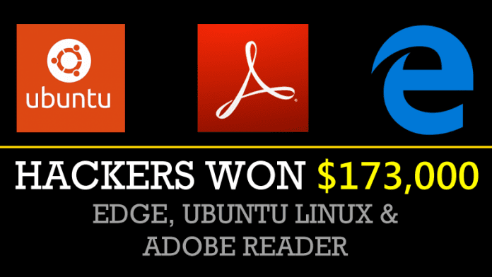 Hackers Won $173,000 For Hacking Microsoft Edge, Ubuntu Linux & Adobe Reader