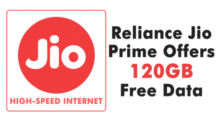 Reliance Jio Prime Offers 120GB