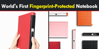 Meet The World's First Fingerprint-Protected Notebook