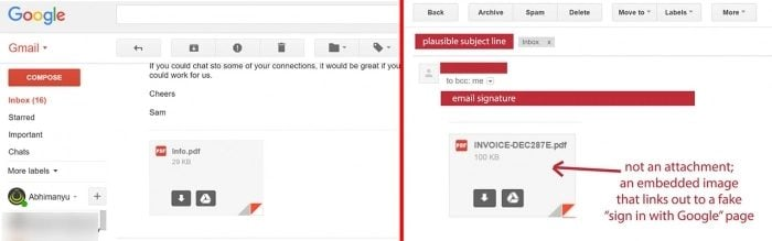 Protection Against Fake Gmail