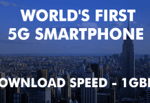 Meet The World's First 5G Smartphone With 1Gbps Download Speeds