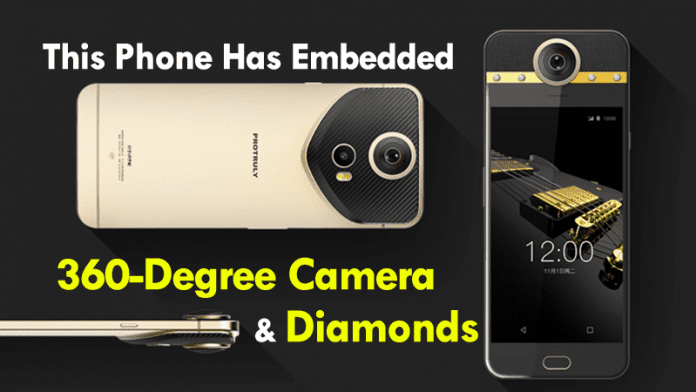 This Smartphone Has Embedded Diamonds And A 360-Degree Camera