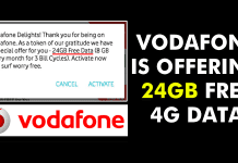 OMG! Vodafone Is Offering 24GB 4G Data To Its Users