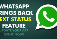 "WhatsApp Brings Back ""Text Status"" For Android Users!"