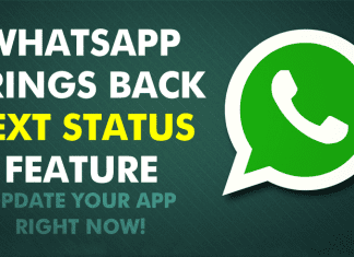 """WhatsApp Brings Back """"Text Status"""" For Android Users!"""