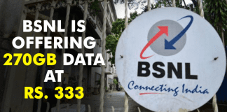 BSNL Is Offering 270GB Data At Rs. 333 To Counter Jio