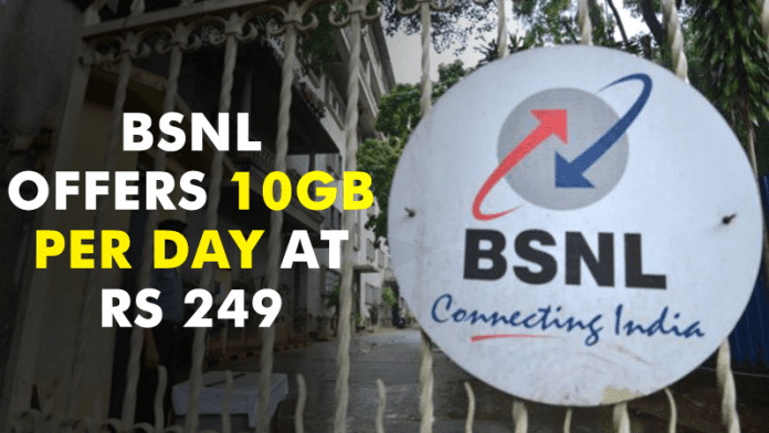 BSNL Launches An *INSANE* Plan, Offers 10GB Per Day At Just Rs 249