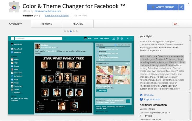 Color & Theme Changer for Facebook