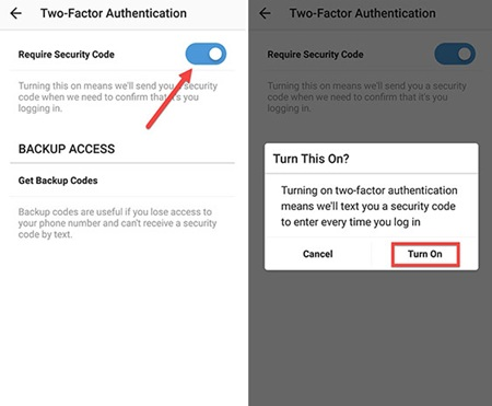 Enable Two-Factor Authentication for Instagram on Android