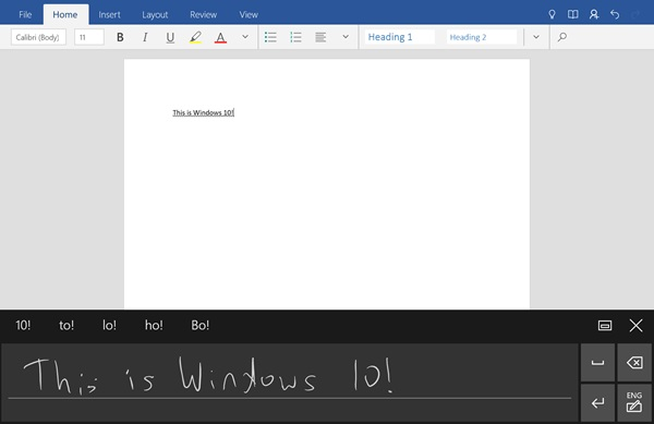 Enable and Use Handwriting Input in Windows 10