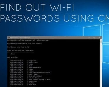 How To Find The Wi-Fi Password Of Your Current Network Using CMD