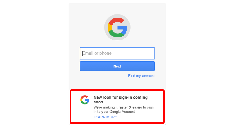 Google Is Changing The Look Of Sign-In Page On The Web Soon