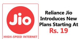 Reliance Jio Introduces New Plans Starting At Rs. 19