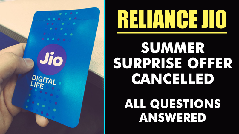 Jio's Latest Announcement Is Shocking! Summer Surprise Offer Cancelled!