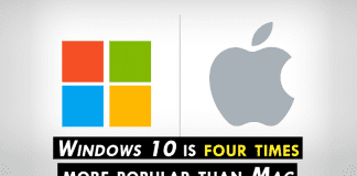 Apple Admits Windows 10 Is Four Times More Popular Than Mac