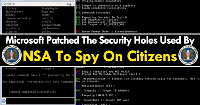 Microsoft Patched The Security Holes Used By NSA To Spy On Citizens