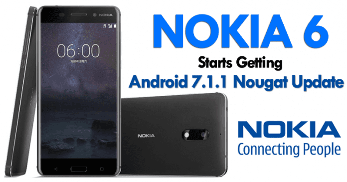 Nokia 6 Starts Getting Android 7.1.1 Nougat Update