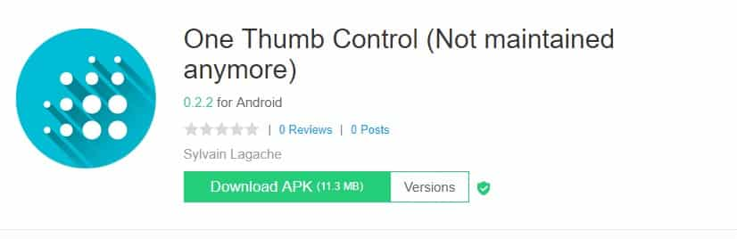 One Thumb Control - BETA