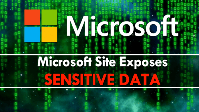 Oops: Microsoft Site Exposes Sensitive Data