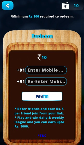 Play &a Win Free Paytm Cash Also Rs.10 Signup