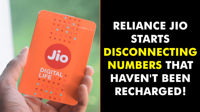 Reliance Jio Starts Disconnecting Numbers That Haven't Been Recharged