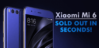 Xiaomi Mi 6 Sold Out In Seconds!