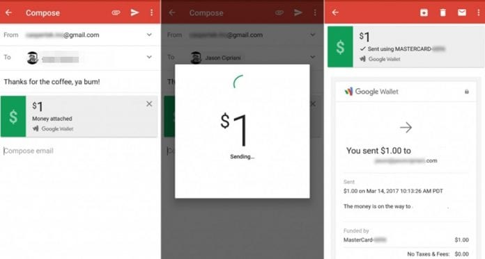 Send and Request Money Through Gmail App on Android