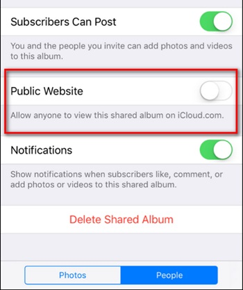 Share Your iCloud Photos with Non-Apple User