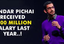 Google CEO Sundar Pichai Received $200 Million Salary Last Year