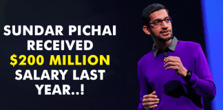 Google CEO Sundar Pichai Received $200 Million Salary Last Year