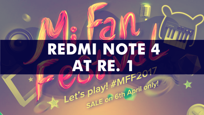 Xiaomi Is Offering The Redmi Note 4 At Re. 1!