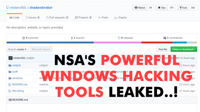 NSA's Powerful Windows Hacking Tools Leaked Online