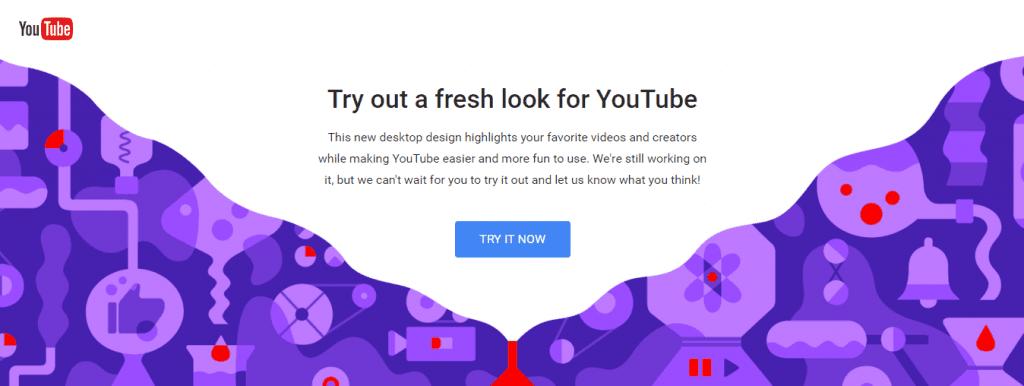 1 1024x386 - YouTube Launching New Material Design Interface, Dark Theme