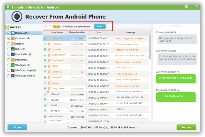 4 - How to Recover Deleted Messages from Android