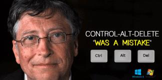 "Bill Gates: Control-Alt-Delete ""Was A Mistake"""
