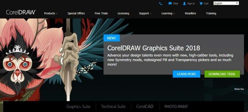 CorelDraw - Best Free Graphic Designer Tools for Windows 2019