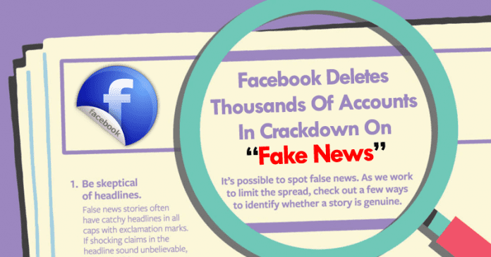 Facebook Deletes Thousands Of Accounts In Crackdown On Fake News