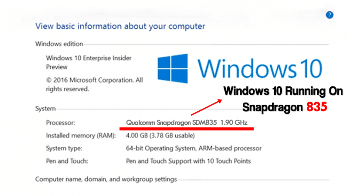 Finally! Windows 10 Running On Qualcomm Snapdragon 835 Processor