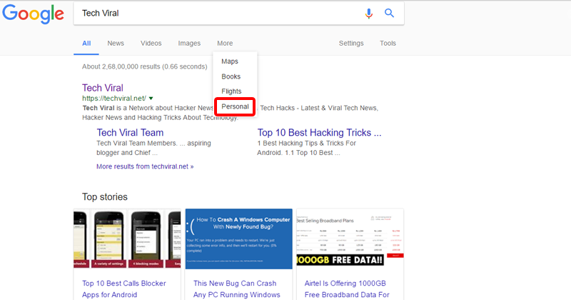 Google Makes Your Search Results More Personal