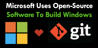 Microsoft Uses Open-Source Software To Build Windows