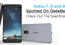 Nokia 7, 8 and 9 Spotted On GeekBench: Here Are The Specifications!
