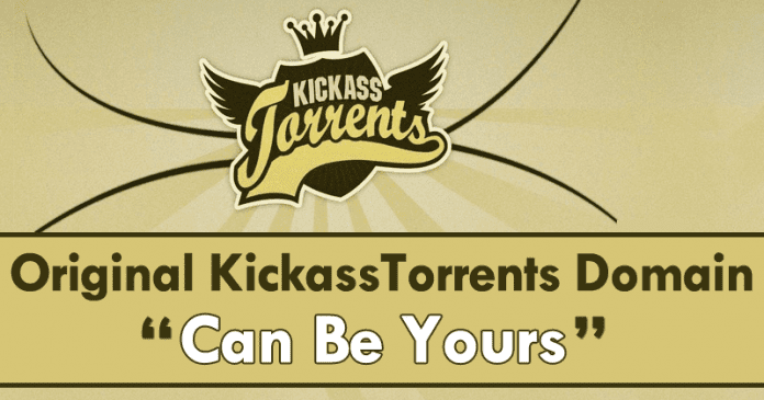 Now Original KickassTorrents Domain Can Be Yours