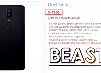OnePlus 5 Listed Online! Full Specs & Price