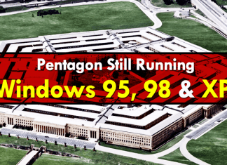 Pentagon Still Running Windows 95, 98 And XP On Critical Systems