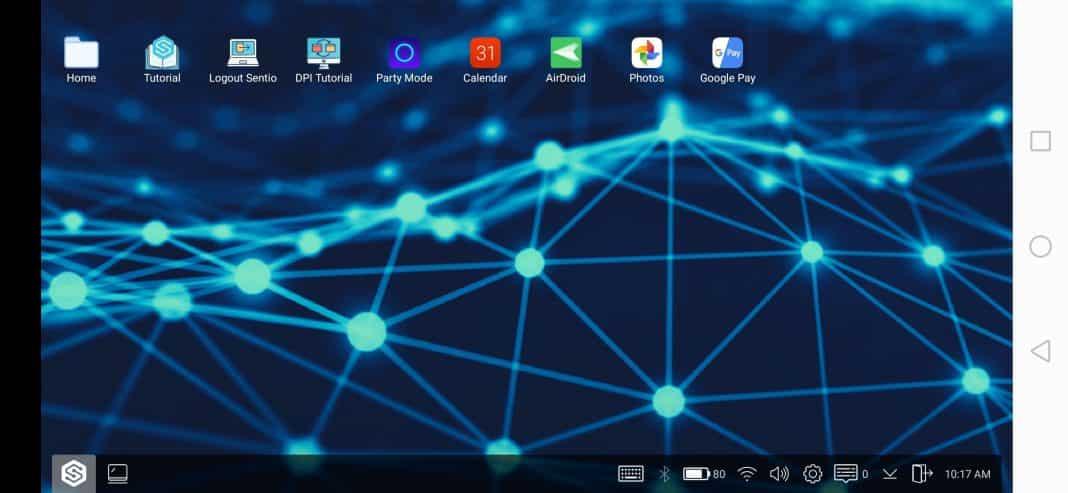 full-fledged desktop interface