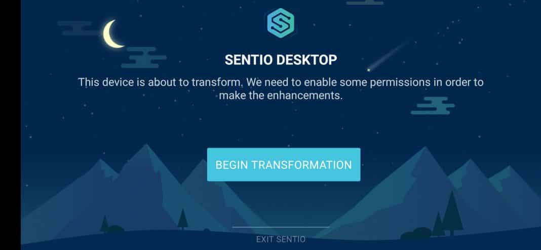 Tap on the 'Begin Transformation' button