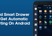 How to Add Smart Drawer and Get Automatic Sorting Feature On Android